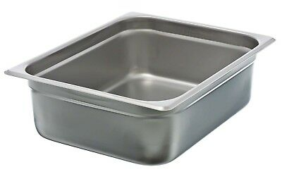 """4"""" Half-Size Anti-Jam Steam Table Pan with Reinforced Corner Design Stainless"""