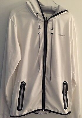 Head Tennis Hoody weiß gr. L Amir Full Zip Technical