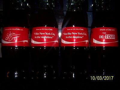 Sabrina Carpenter Coca Cola 4 Bottle Set