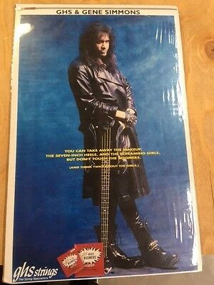 Kiss Gene Simmons GHS Bass Boomers Promo Poster