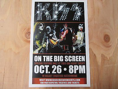 Kiss On The Big Screen Promo Poster