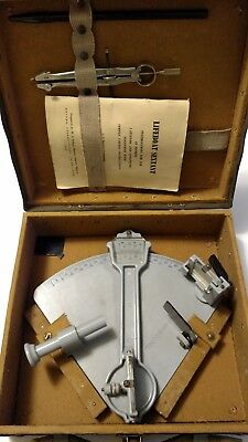 1944 Antique WWII  U.S.Maritime CommissionSEXTANT Cruver Mfg Lifeboat navigation