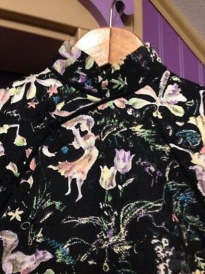 Japanese or Chinese style Women's Dress Handmade Vintage Size S - XS