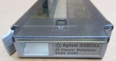 Agilent HP Keysight 34908A 40 Channel Multiplexer Single Ended for 34970A