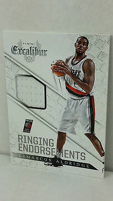 2014-15 Panini Excalibur Ringing Endorsements Jerseys #14 L. ALDRIDGE (Blazers)