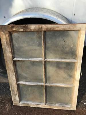 Vintage Wood Window 6 Pane Wall Decor Chippy Wedding Barn Old Rustic White