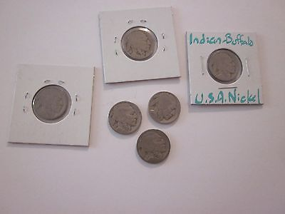 Buffalo Nickles Set Of 6 Collectibles #654