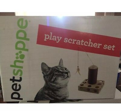 New In Box Pet Shoppe Fun Cat Play Scratcher Set With Free Shipping