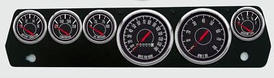 New Vintage Black 1967 Series 67-70 Mopar A-Body Gauges w/Mech Speedo - 67647-01