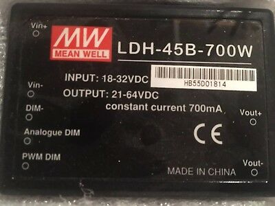 Lot of 14 LDH Series Mean Well Step-Up (Boost) Mode CC LED Drivers LDH-45B-700W