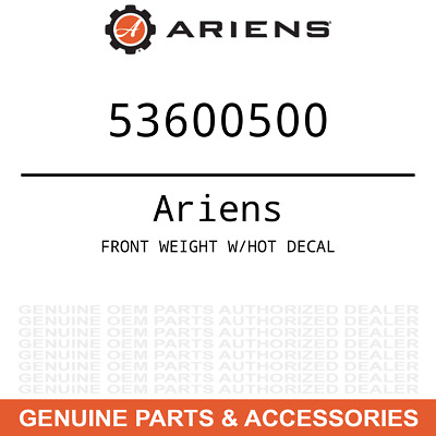 OEM Ariens Gravely FRONT WEIGHT W/HOT DECAL 53600500
