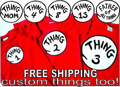 THING 1 T SHIRT THING 2 T SHIRT infant toddler youth adult SHIRTS