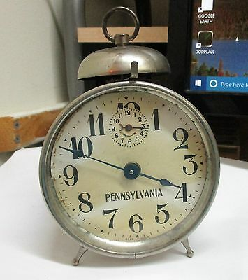 "Ingraham ""pennsylvania""  Alarm Clock  Running   Collectible/antique"