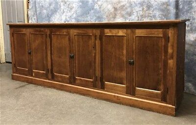 """8'9"""" Country Store Counter Hardware Clothing Tavern Front Bar Back Vintage"""