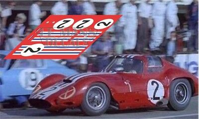 Calcas Maserati 151.1 Le Mans 1963 2 1:32 1:24 1:43 1:18 64 87 151 slot decals