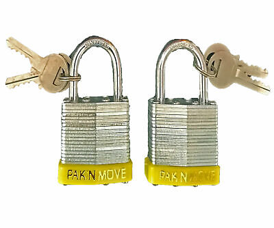 "Moving PadLock 1-1/2"" (2 pack) Heavy Duty Moving and Storage"