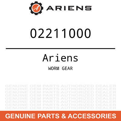 OEM Ariens Gravely WORM GEAR 02211000