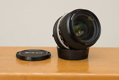 Nikon Nikkor 35mm f/2 AIS AI-s manual focus prime lens, good cosmetics and glass