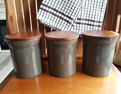 "Denby Greystone Extra Large Greystone Storage Jars 6.5"" - Excellent"