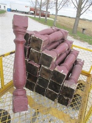 20 Balusters Maroon Wood Architectural Salvage Spindles Porch Post House Trim a