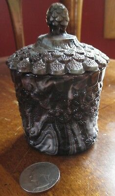Purple Slag Covered Jar  Davidson or Greener
