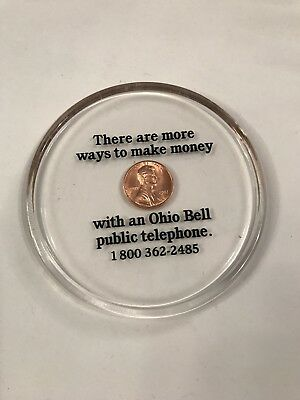 Vintage Ohio Bell Telephone Advertising 1987 Plastic Penny More Ways (J2)