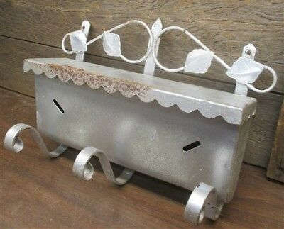 Metal Wall Mount Mailbox Letter Post Front Open Garden Decoration Vintage b