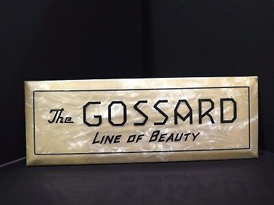Antique Celluloid GOSSARD Sign Whitehead & Hoag Co Advertising CORSETS LINGERIE