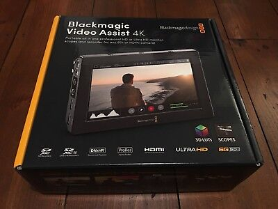 """Blackmagic 4K Video Assist 7"""" Monitor/Recorder-Used 3 times inc Resolve"""