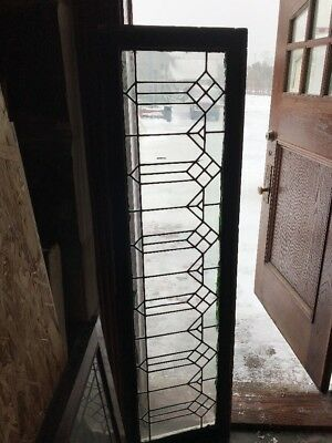 Sg1764 Antique Leaded Glass Transom Window 18.5 X 64.5