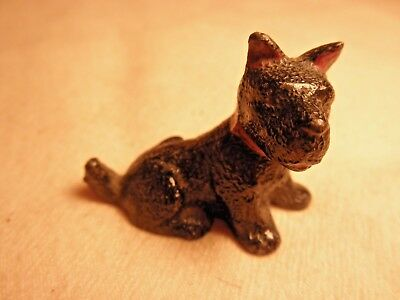 VINTAGE REAL NICE QUALITY CAST IRON SCOTTY DOG small FIGURINE PAPERWEIGHT