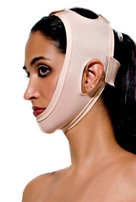 Compression Face Mask, Post Surgery, Head, Face, Neck (FM Special) Beige - Large