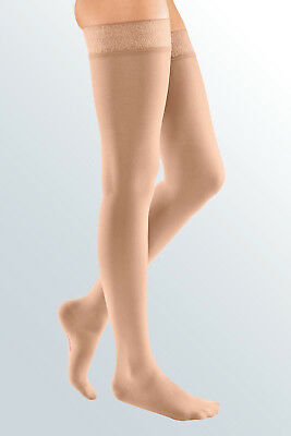 MEDIVEN Stocking, Compression Thigh High, Beige, Size VII - Venous Insufficiency