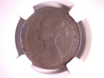 1869 Great Britain 1/2 Penny, NGC XF 40 BN KM#748.2