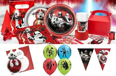 Star Wars The Last Jedi Birthday Party Tableware Decorations Boys Party