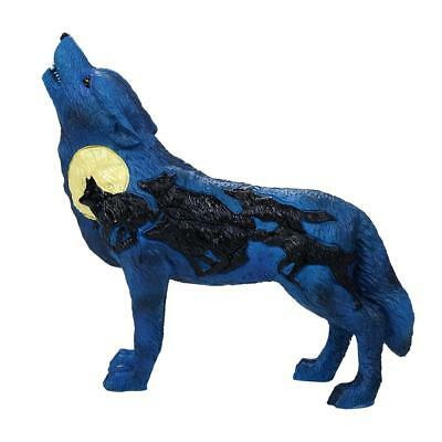 The Wolf Spirit Collection Night Rush Blue Wolf Spirit Collectible Figurine