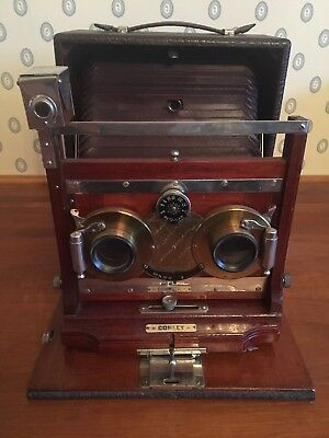 Conley 5x7 Stereoscopic Camera with case and plates