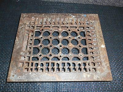 Antique Cast Iron Floor Grate Heat Register Vent Old Architectural  Restoration