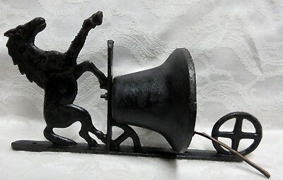 Vintage Cast Iron Horse Door Knocker BELL