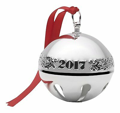 WALLACE 2017 SILVER-PLATED SLEIGH BELL 47th EDITION ANNUAL ORNAMENT NEW with BOX