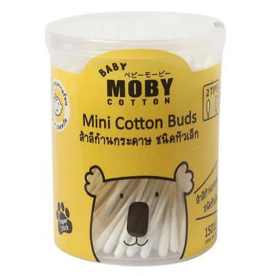 New Baby Moby Mini Cotton Buds 2 Tips 150 sticks For Clean Baby's Nose
