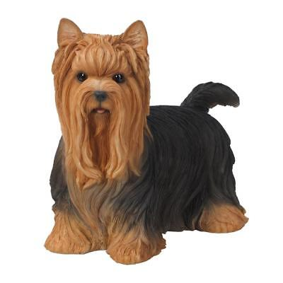 Yorkshire Terrier Yorkie Statue Glass Eyes Large Size Dog