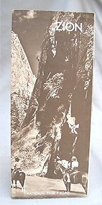 Vintage Travel Brochure --- Zion Nation Park - Utah - with map