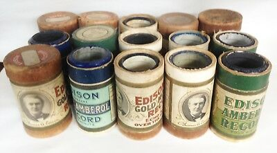 Lot of 15 Vintage Uncle Josh, Cal Stewart, Edison, Columbia Cylinder Records