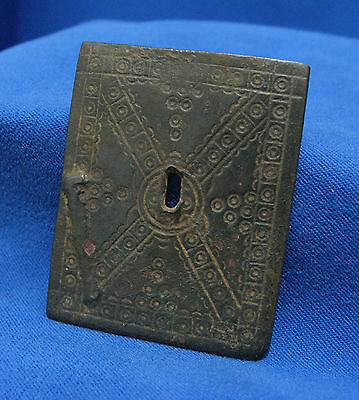 Roman Celts Byzantine Turkish Leather Cloth Decoration Buckle Battlefield Relic