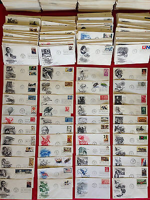 100 U.S. First Day Covers FDC // Cacheted Engraved // 1950's-2000's Estate Lot