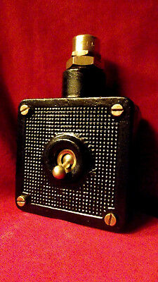 "Vintage Industrial Light Switch ""Simplex"" Cast Iron 1 One Gang Black"
