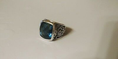 lois hill Sterling silver ring with blue topaz Stone