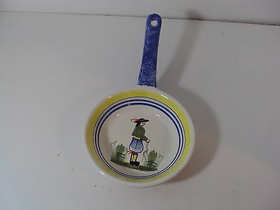 Quimper France Henriot Porcelain Pan Spoon Rest