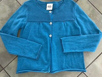 Girls MINI BODEN Sz 7 8y Gray Blue Green  l/s Thin Sweater Cardigan Dressy